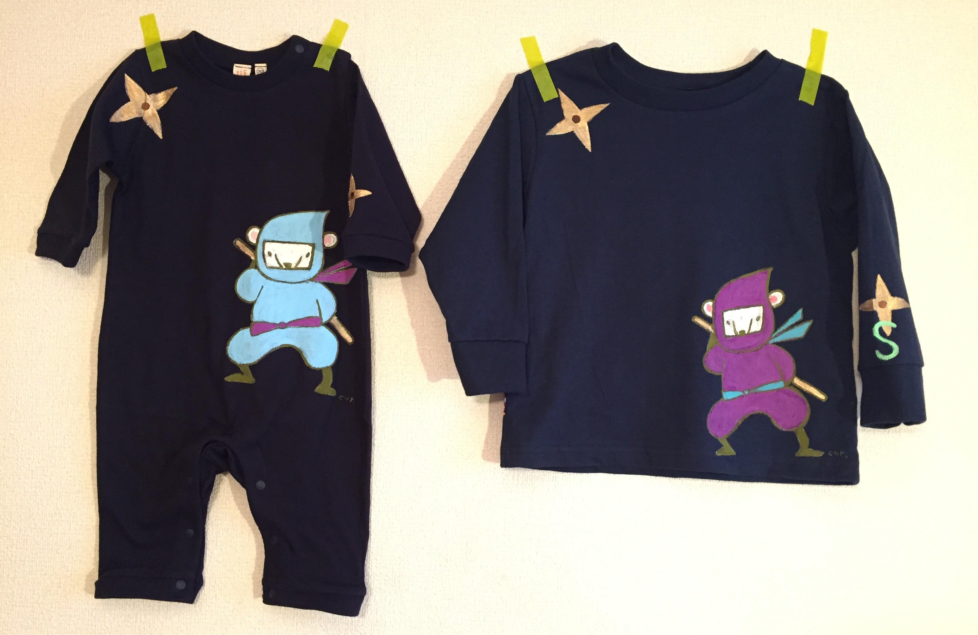 くまニンジャーロンパース&Tシャツ